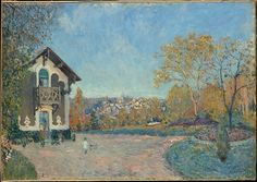 Alfred Sisley (British, 1839–1899). View of Marly-le-Roi from Coeur-Volant, 1876. The Metropolitan Museum of Art, New York. Bequest of Miss Adelaide Milton de Groot (1876–1967), 1967 (67.187.103) #paris