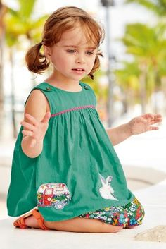 Buy Green Rabbit Embroidered Tunic And Shorts Set (3mths-6yrs) online today at Next: United States of America