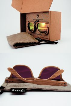 Our wood sunglasses come neatly packaged.