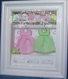 Cuadro modelo Valentina ♥ Baby Shawer, Baby Play, Diy Wedding Gifts, Diy Gifts, Small Cabinet, Box Houses, Shadow Box Frames, Altered Boxes, Creative Thinking