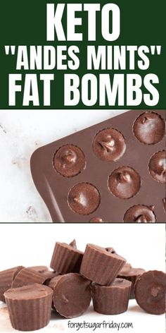 Yummy keto fat bombs that taste like Andes Mints candies! If you're looking for your next favorite keto fat bomb recipe, try these fat bombs that double as a keto candy recipe! They are sweet, minty… Chocolate Fat Bombs, Low Carb Chocolate, Chocolate Ganache, Chocolate Recipes, Keto Friendly Desserts, Low Carb Desserts, Ketogenic Recipes, Keto Recipes, Healthy Recipes