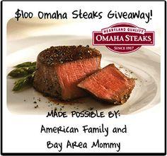 Giveaway Alert: $100 Omaha Steaks Giveaway (US)