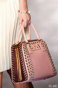 Prada pink & brown bag