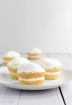 These small Vanilla Cream Cakes are a soft, dense and perfectly portioned dessert.