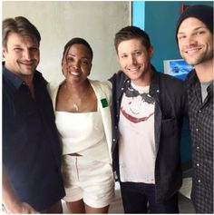 You don't get more awesome than Nathan Fillion, Jensen Ackles, & Jared Padalecki in the same photo. NerdHQ 2015
