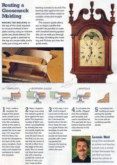 Routing a Gooseneck Molding - Furniture Molding Construction Techniques | WoodArchivist.com