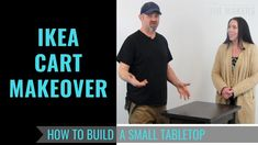 How to Make a Small Tabletop - Ikea Cart Makeover - Meet The Makers Ikea Cart, Butcher Block Oil, Serving Cart, Wooden Tops, Tabletop, Stains, Meet, Youtube, How To Make