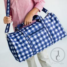 Monogrammed Duffle Bag  Personalized Duffle Bag by jcoolcreations