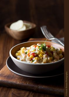 Roasted Pepper and Corn Salad with Goat Cheese Dressing