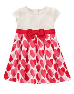 Toddler Girls Red Heart Heart Print Dress by Gymboree