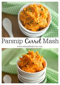 Parsnip Carrot Mash: This was...surprisingly delicious! Will definitely be making again and again!