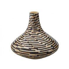 Mosaic Brown Pen Seashell Vase  #HomeDecor #Decorating #DecorIdeas #InteriorDesign #Home #Vase #NeutralDecor #BeachHouse