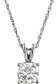 Classic Genuine Gemstone Moissanite Pendant for SALE at BitCoin Gems