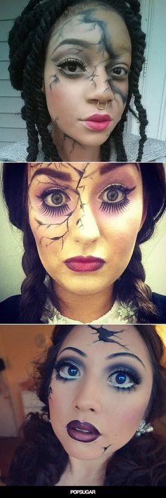 Pin for Later: Break the Costume Mold With These Creepy Cracked-Doll Looks