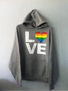 Pullover Hoodie - Pride Colors LOVE