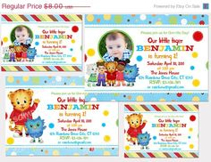 30% off sale Digital Daniel Tiger's Neighborhood  Printable Birthday party invitation