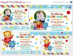 30% off sale Digital Daniel Tiger's Neighborhood  Printable Birthday party invitation