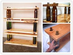 How to build green modular storage shelving and tables with glass bottles step by step DIY tutorial instructions, How to, how to do, diy instructions, crafts, do it yourself, diy website, art project ideas