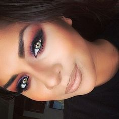 the proper way to wear a bright colored eyeshadow