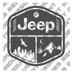 Jeep Wrangler Adventure Badge Decal Cherokee Decal Funny