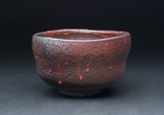 Steve Sauer Red Chawan 2012 cavados a mano arcillas de gres y de la mano excavado materiales para Shino se desliza Anagama disparó 110 horas en Santatsugama (3 dragón horno) 3 x 5 pulgadas & nbsp; / & nbsp; 7,6 x 12,7 cm & nbsp; / & nbsp; SSA 3