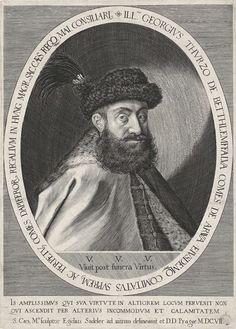 Aegidius Sadeler | Portret van Georg III Thurzo von Bethlendorf, Aegidius Sadeler, 1607 | Graaf Georg Thurzo de Bethlenfalvy, lid van het Hongaarse adellijke geslacht Thurzo en onderkoning van Hongarije.