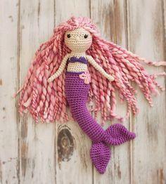 Sirène au crochet poupée poupée Amigurumi par ALRinspirations