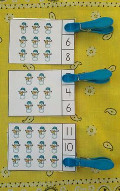 Engaging Winter Counting Practice for Your Little Learners!   $    #winter #snowday #snowmen #kampKindergarten #clipcards #wintermath   https://www.teacherspayteachers.com/Product/Snow-Day-Winter-Count-and-Clip-Cards-Sets-to-12-1024270