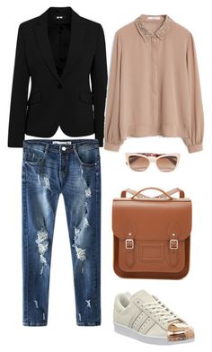 """Casual Friday!"" by boyo-bolortsetseg on Polyvore featuring MANGO, adidas, The Cambridge Satchel Company, Dolce&Gabbana, women's clothing, women's fashion, women, female, woman and misses"