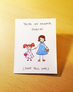 Funny Mothers day card hand drawn mothers day by LoveNCreativity