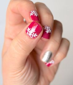 Snowflake Cuticle Vinyl Nail Decal Great by BKMVinylDesign on Etsy