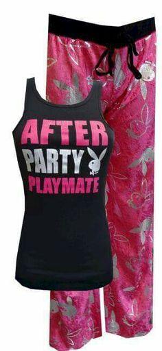 bfdf81b036e3e Playboy Bunny After Party Playmate Pajama Set nikki