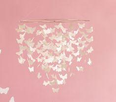 DIY butterfly chandelier