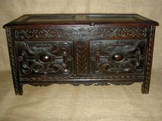 Fine Rare 16th Century Elizabethan Oak Chest