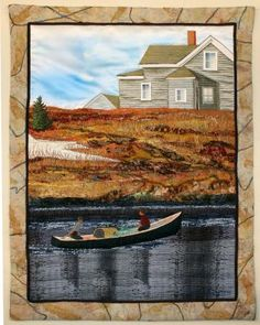 Make-and-Break - Art quilt by Laurie Swim