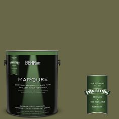 BEHR MARQUEE 1-gal. #PPU9-24 Amazon Jungle Semi-Gloss Enamel Exterior Paint