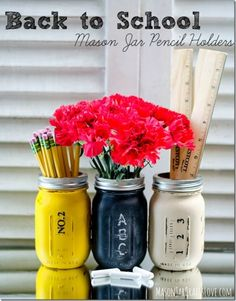 Make Back to School Mason Jars | Dollar Store Mom Frugal Fun – Crafts for Kids