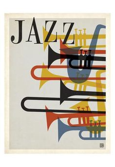 jazz music spirit sax trumpet horn saxophone french beatnik vintage retro hip hep poster graphic red blue yellow black festival the spirit of Jazzzzzzzzzzzzzzzz Arte Jazz, Jazz Art, Poster Jazz, Graphic Design Illustration, Graphic Art, Graphic Posters, Vintage Graphic Design, Plakat Design, Kunst Poster
