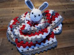 Ohio State OSU Buckeyes Bunny Lovey Crochet by MadebyMawMaw