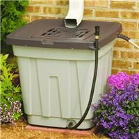 52 GAL RAIN BARREL This is one you can buy but gives me ideas for making one, & if you raise it up on blocks it will drain better...