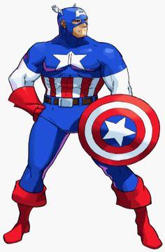 Capcom: Clash of Super Heroes Marvel Comic Character, Marvel Characters, Marvel Vs, Marvel Heroes, Captain America 1, Manga Anime, Villain Costumes, Comic Art, Comic Books