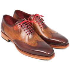 Paul parkman men's wingtip oxford goodyear welted brown & camel... ($629) ❤ liked on Polyvore featuring men's fashion, men's shoes, men's oxfords, mens wingtip shoes, mens shoes, mens brown shoes, mens oxford shoes and mens brown oxford shoes