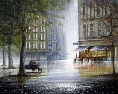 Jeff Rowland Art : » Vintage retro photo Pop Art Studio, Rain Photo, English Artists, Art Techniques, Retro Vintage, Castle, Antiques, Gallery, Places