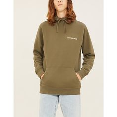 Ck Jeans Logo-print Regular-fit Cotton-jersey Hoody In Khaki Ck Calvin Klein, Calvin Klein Jeans, Ck Jeans, Athleisure, Hooded Jacket, Hoody, Fitness, Casual, How To Wear