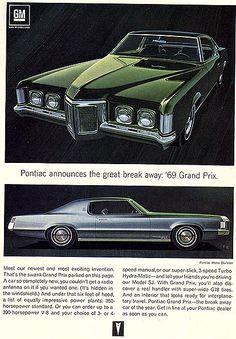 Pontiac captured a beautiful balanced design in the prettiest pontiacs's since the fifties Pub Vintage, Pontiac Cars, Car Brochure, Pontiac Grand Prix, Car Advertising, Us Cars, American Muscle Cars, Retro Cars, Classic Cars