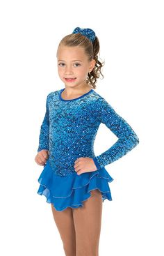 Jerry's Figure Skating Dress 151 - Lace Illusion (Cobalt Blue)