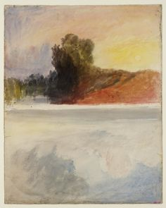 Joseph Mallord William Turner 'Trees by Water at Dawn or Sunset', c.1820–40