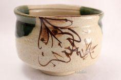 Mino yaki ware Japanese tea bowl Akatu oribe chawan Matcha Green Tea
