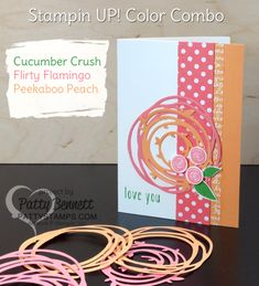 Swirly Scribbles and Swirly Bird note card featuring Stampin' Up! in color combo, blog hop brought to you by the Color Fuse team!