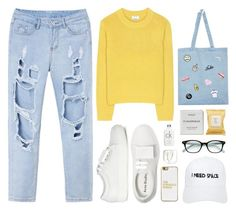 """""""DeniMal"""" by donut-care ❤ liked on Polyvore featuring Acne Studios, Local Heroes, Byredo, Calvin Klein, Aerie, Nasaseasons, Kate Spade, BaubleBar, StreetStyle and white"""